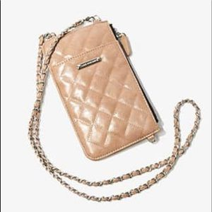 Quilted Crossbody Bag Color: NUDE